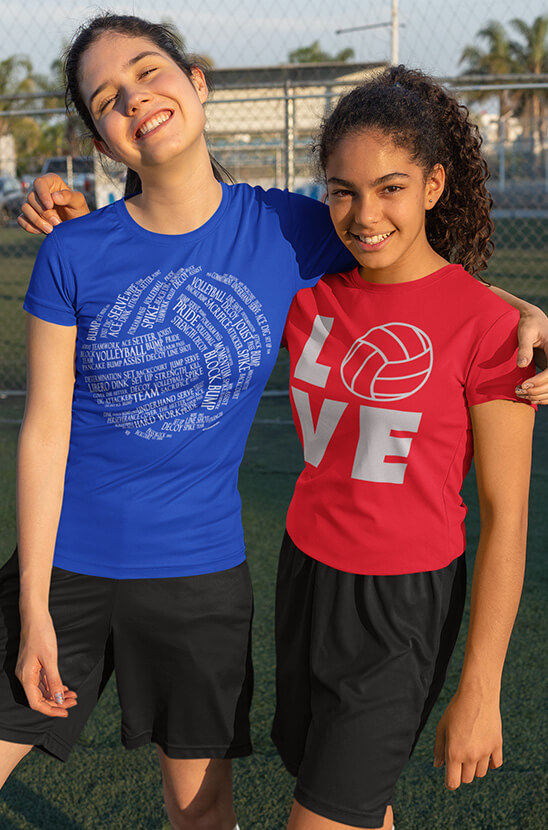 Shop Our Vollleyball Tees
