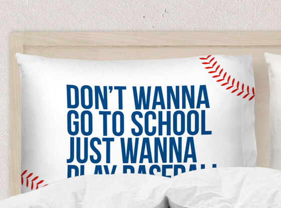Shop our #baseballlife pillowcases