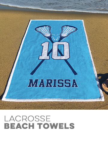 Girls Lacrosse Beach Towels