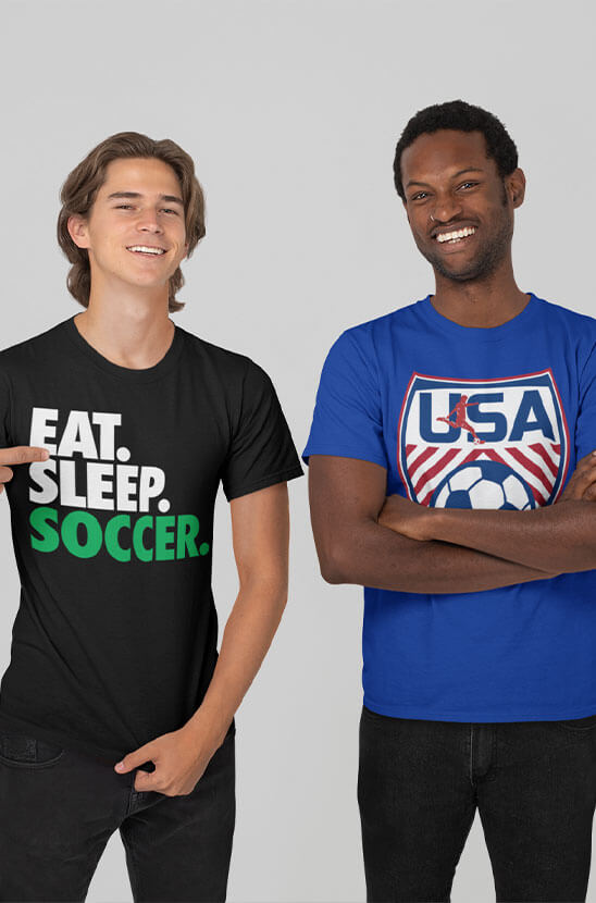 Shop Our Soccer Tees