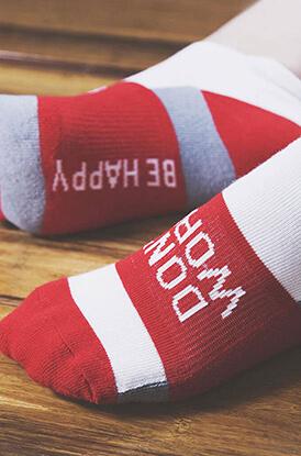 Be Happy Socrates Socks