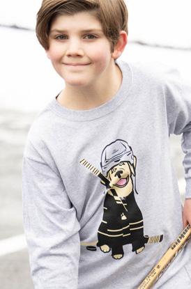 Hunter The Hockey Dog Long Sleeve Shirt