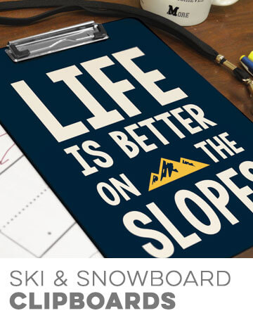 Skiing & Snowboarding Clipboards