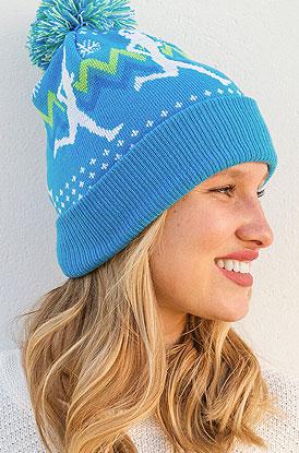 Shop Runner Girl Pom Pom Knit Hat
