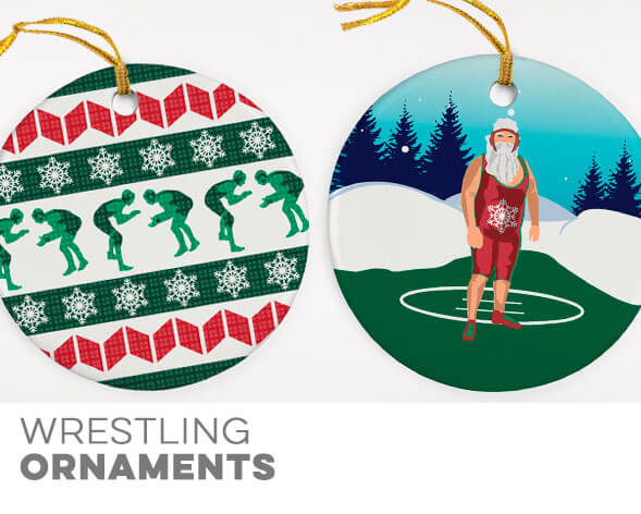 Wrestling Ornaments
