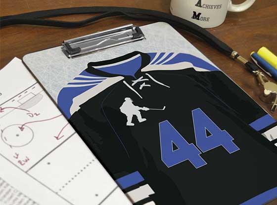 Personalized Hockey Coach's Clipboard
