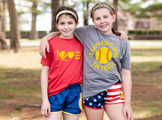 Shop ALL Softball Short Sleeve T-Shirts