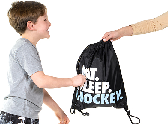 Eat Sleep Hockey SwagBagz