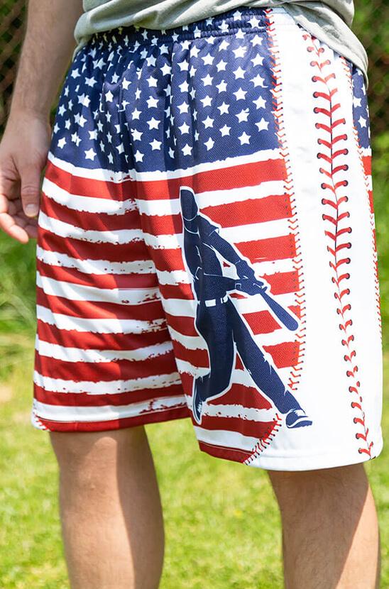 Shop Our Patriotic Baseball Shorts