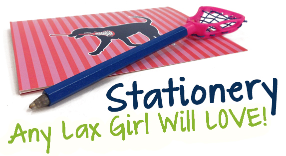Girls Lacrosse Stationery