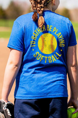 Shop I'd Rather Be Playing Softball Logo Collection
