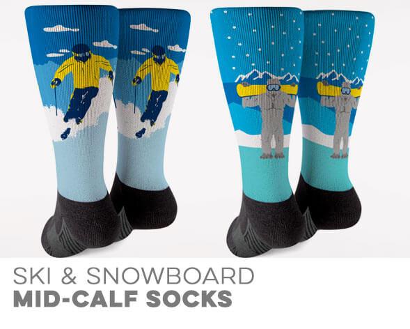 Skiing & Snowboarding Mid-Calf Socks