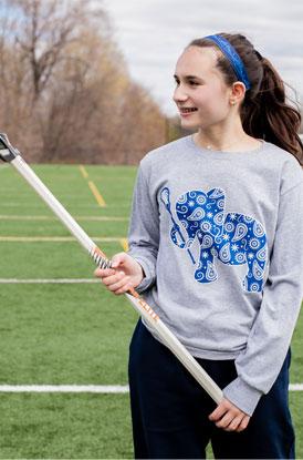 Lacrosse Elephant Long Sleeve Shirt