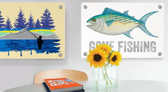 Fly Fishing Metal Wall Art