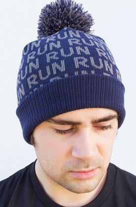 Shop Run Pom Pom Knit Hat