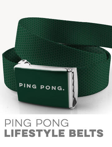 Ping Pong Lifestyle Belts