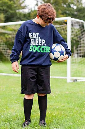 Shop Eat Sleep Soccer Crew Neck