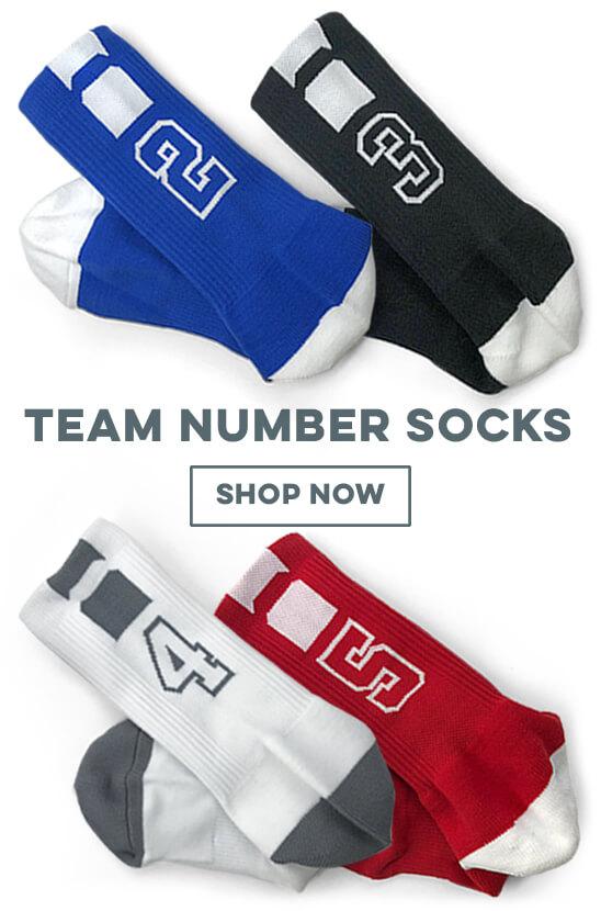 Shop Our Team Number Socks