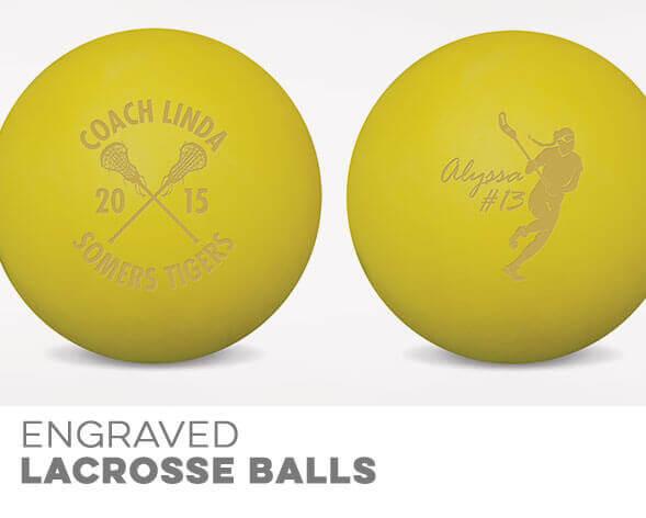Girls Lacrosse Engraved Balls