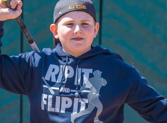 Shop Rip It Flip It Baseball Hooded Sweatshirt