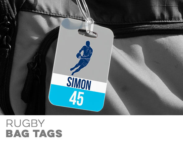 Rugby Bag Tags