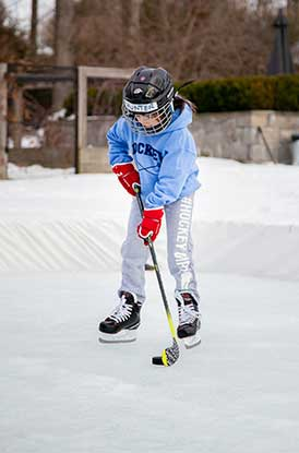 Girl Wearing Hockey Girl Sweatpants