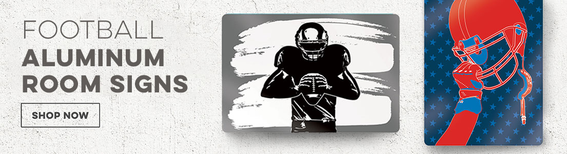 Football Aluminum Room Signs
