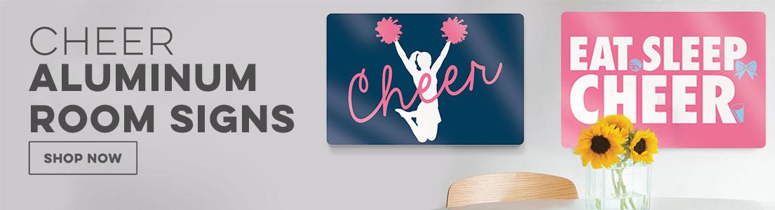 Cheer Aluminum Room Signs