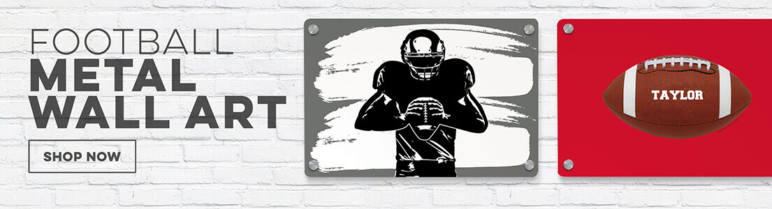 Football Metal Wall Art