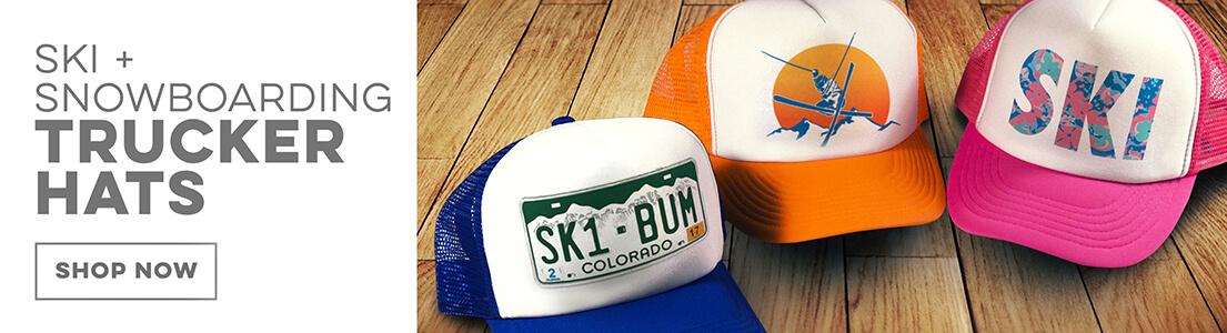 Skiing Trucker Hats