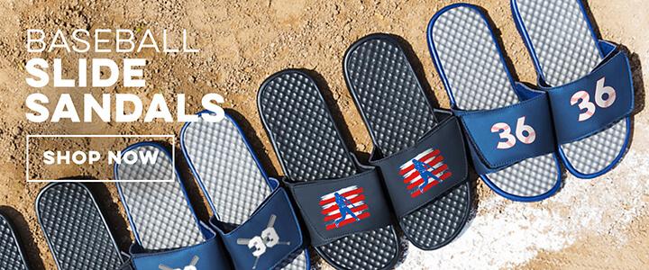 Baseballs Slide Sandals